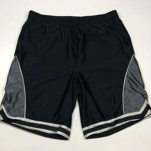 Nike Mens Black Gray Athletic Shorts Sz XXL